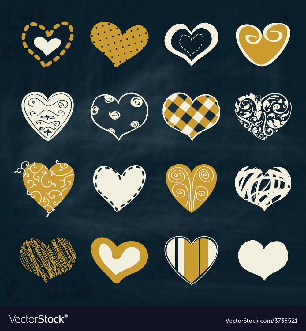 Artistic collection of hearts in assorted designs vector | Price: 1 Credit (USD $1)