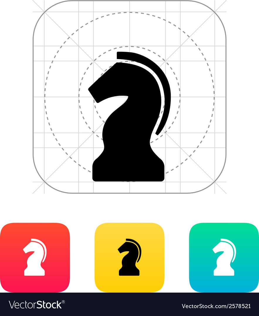 Chess knight icon vector | Price: 1 Credit (USD $1)