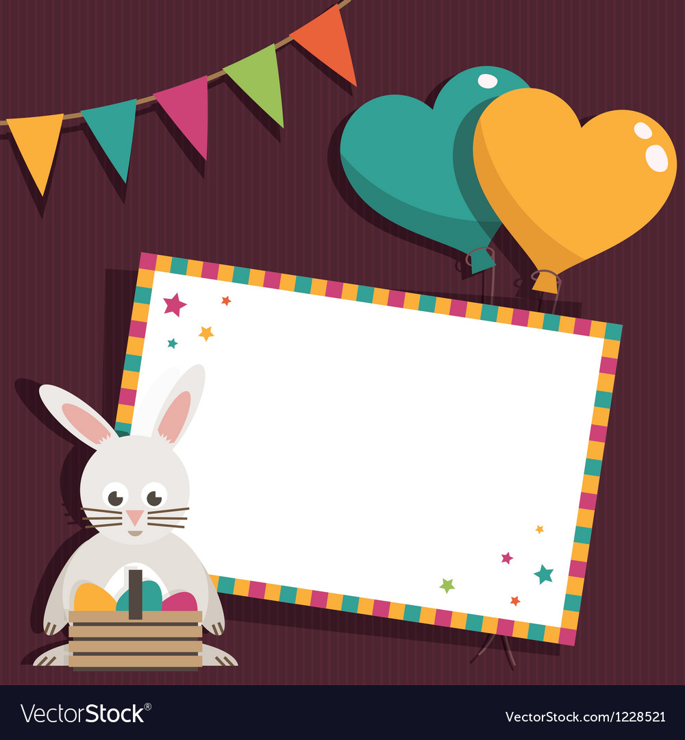 Easter invite vector | Price: 1 Credit (USD $1)