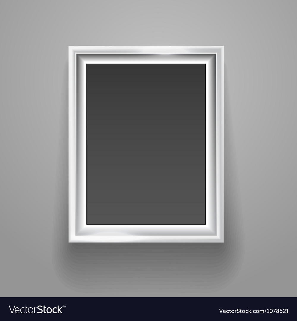 Empty picture frame on the wall template vector | Price: 1 Credit (USD $1)