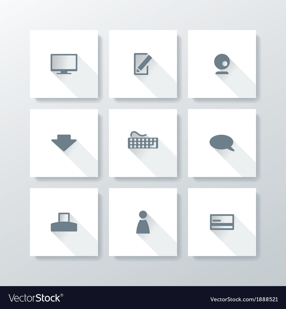 Flat web icon set vector | Price: 1 Credit (USD $1)