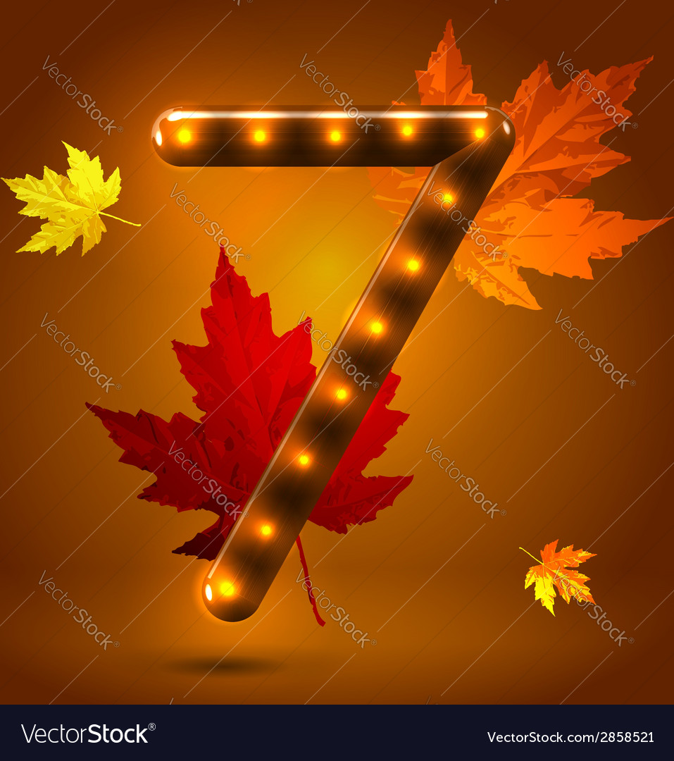 Glossy retro autumn lighted up abc vector | Price: 1 Credit (USD $1)