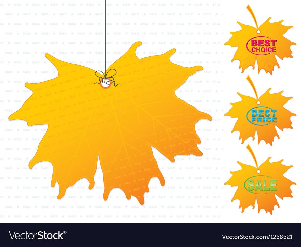 Icon maple sale vector | Price: 1 Credit (USD $1)