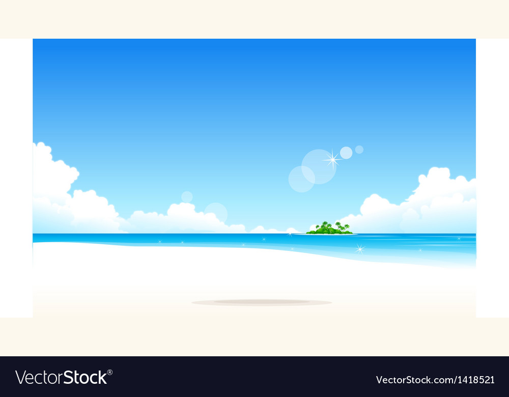 Idyllic beach vector | Price: 1 Credit (USD $1)