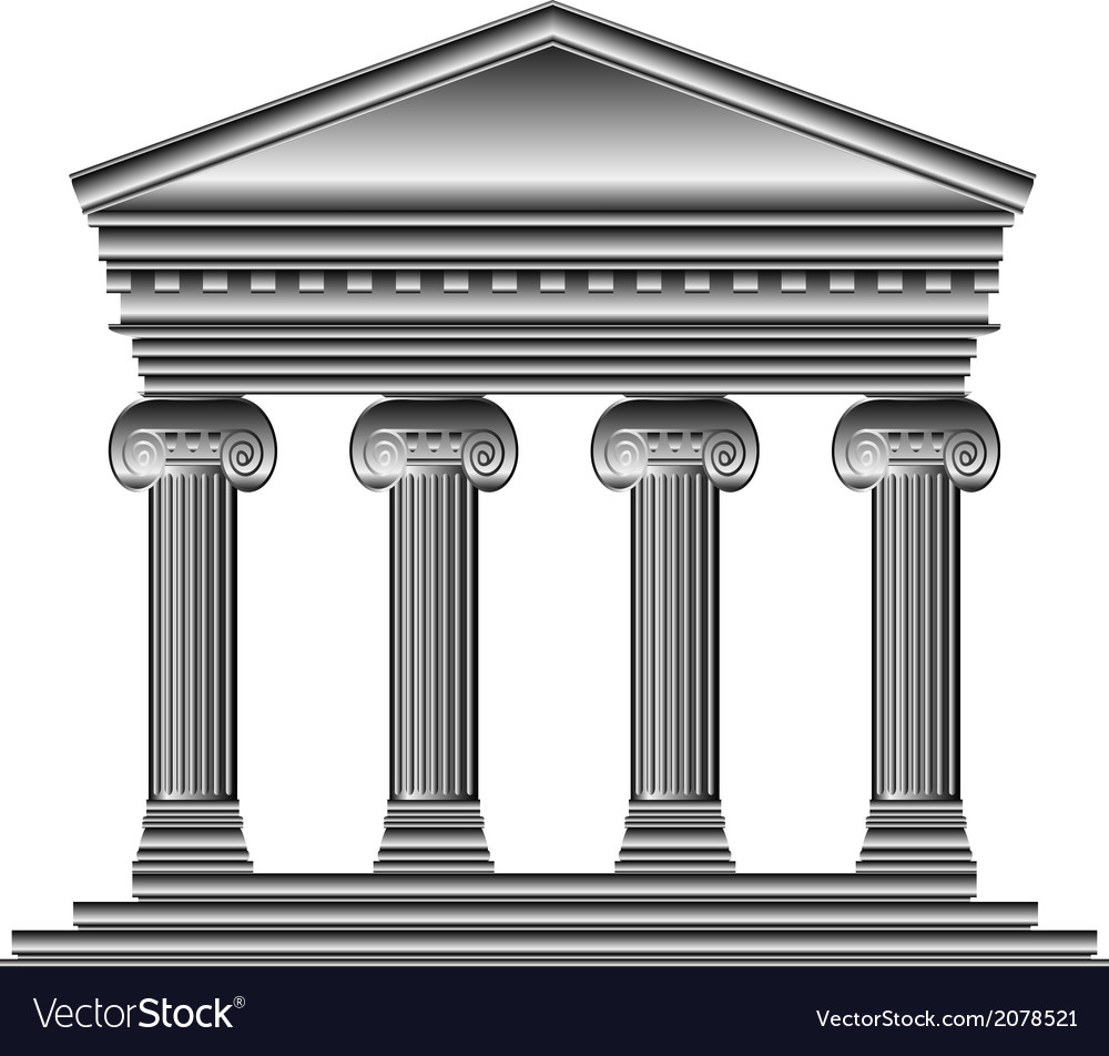 Ionic temple vector | Price: 1 Credit (USD $1)