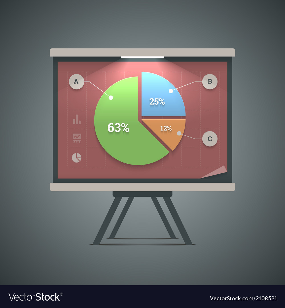 Pie chart presentation vector | Price: 1 Credit (USD $1)