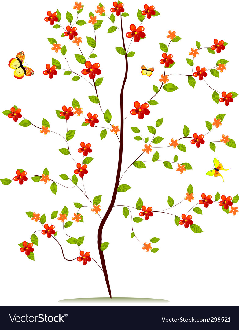 Sapling flower vector | Price: 1 Credit (USD $1)