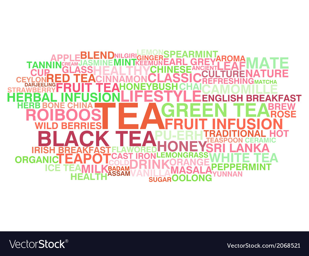 Tea variety vector | Price: 1 Credit (USD $1)