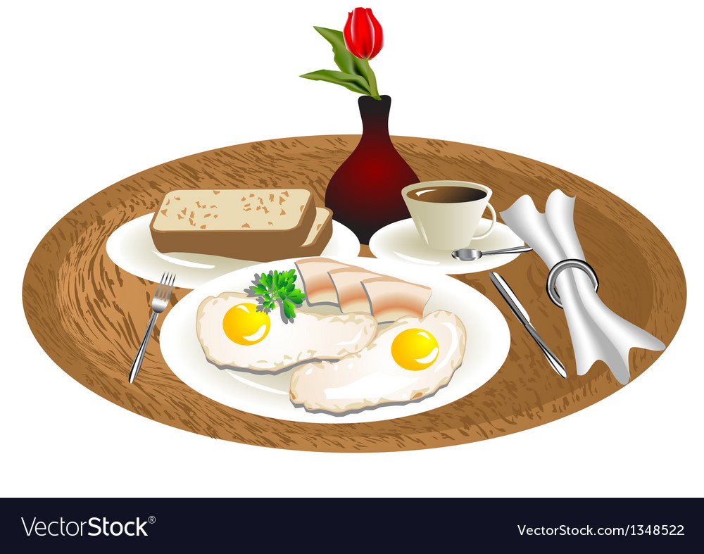 Breakfast tray vector | Price: 1 Credit (USD $1)