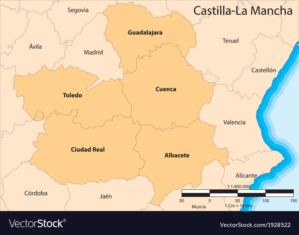 Castilla-la mancha vector | Price: 1 Credit (USD $1)