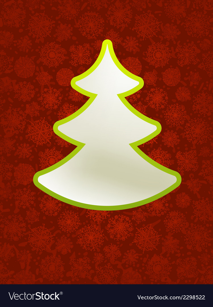 Christmas applique with tree  eps8 vector | Price: 1 Credit (USD $1)