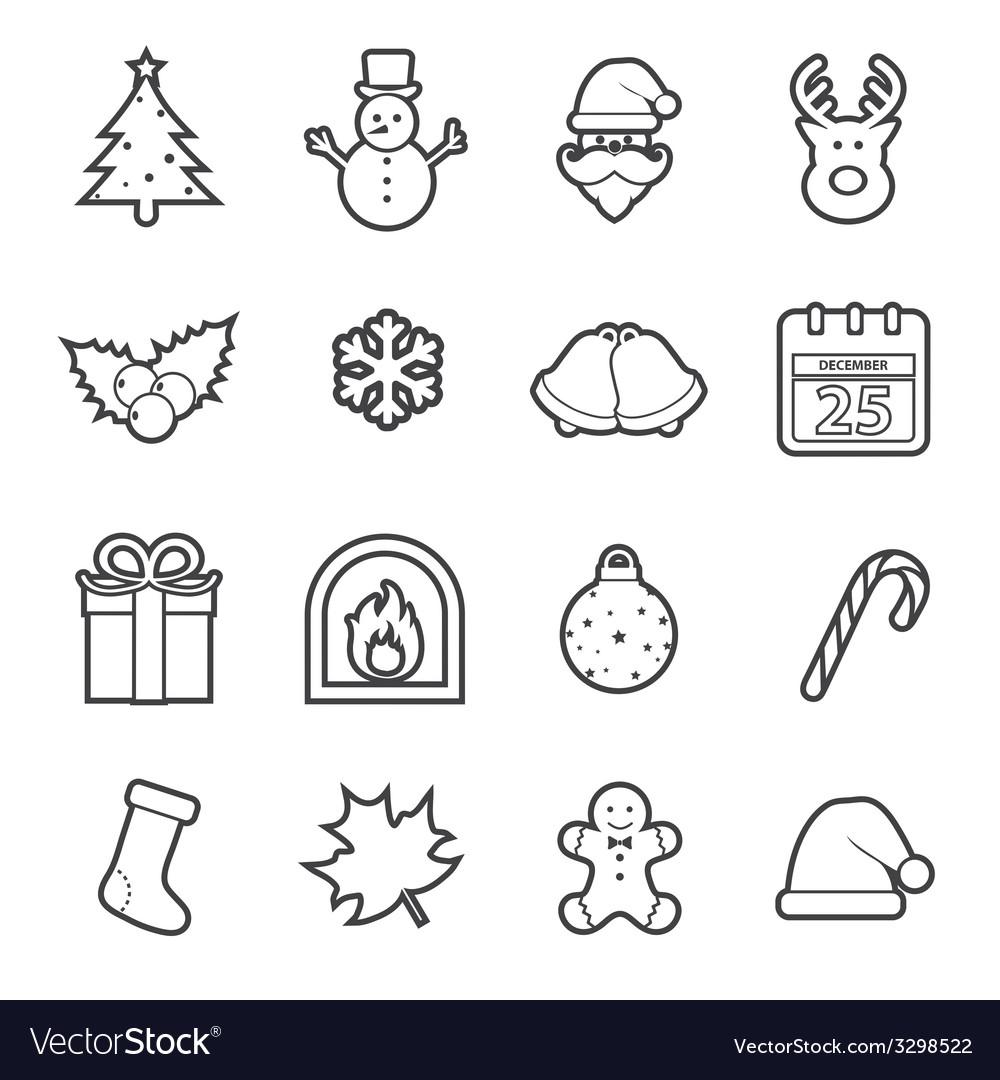 Christmas icon vector | Price: 1 Credit (USD $1)