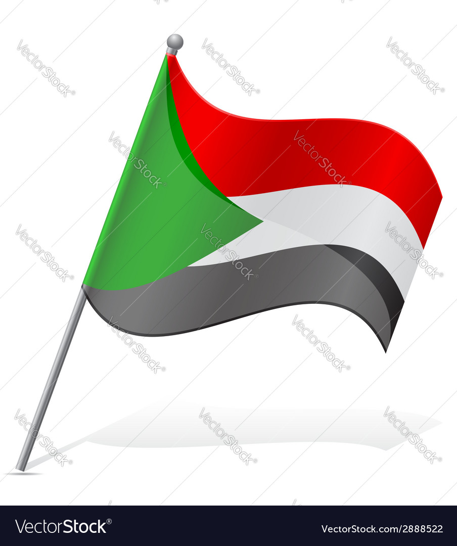 Flag of sudan vector | Price: 1 Credit (USD $1)