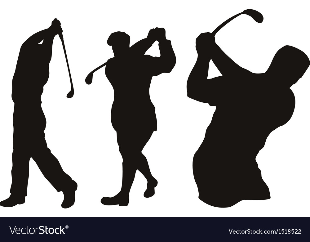 Golfer swinging vector   Price: 1 Credit (USD $1)