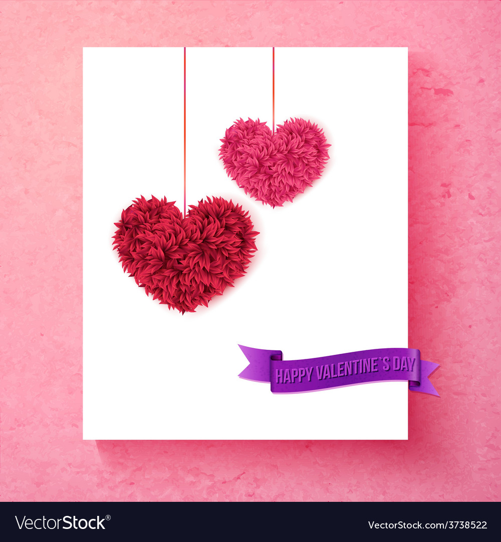 Loving valentine card design with hearts vector | Price: 1 Credit (USD $1)