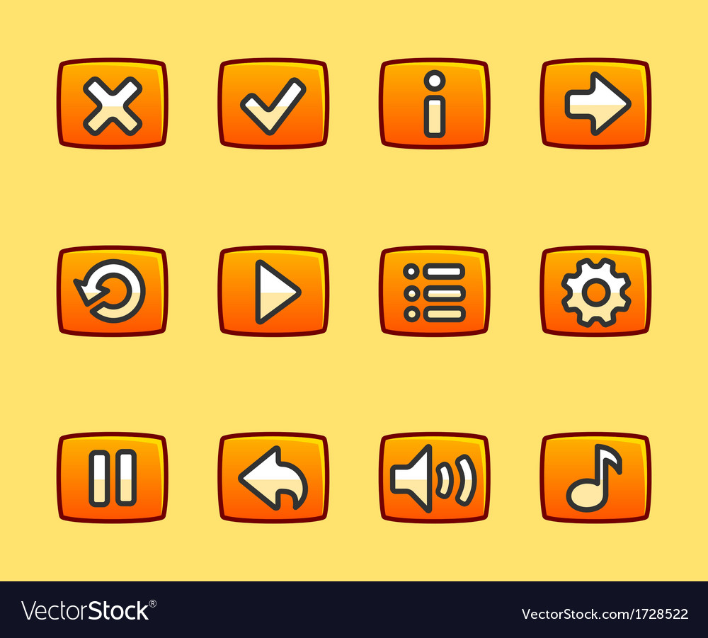 Orange buttons for game vector | Price: 1 Credit (USD $1)
