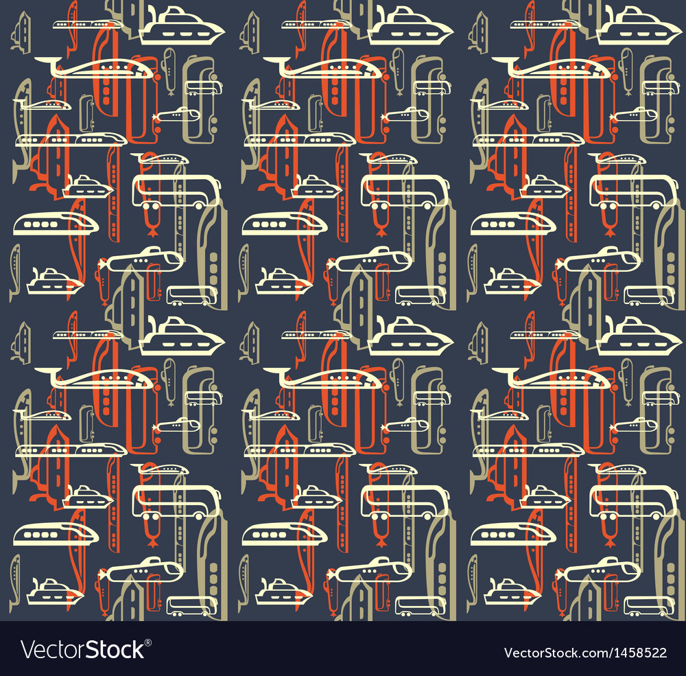 Seamless pattern of traffic means of vector | Price: 1 Credit (USD $1)