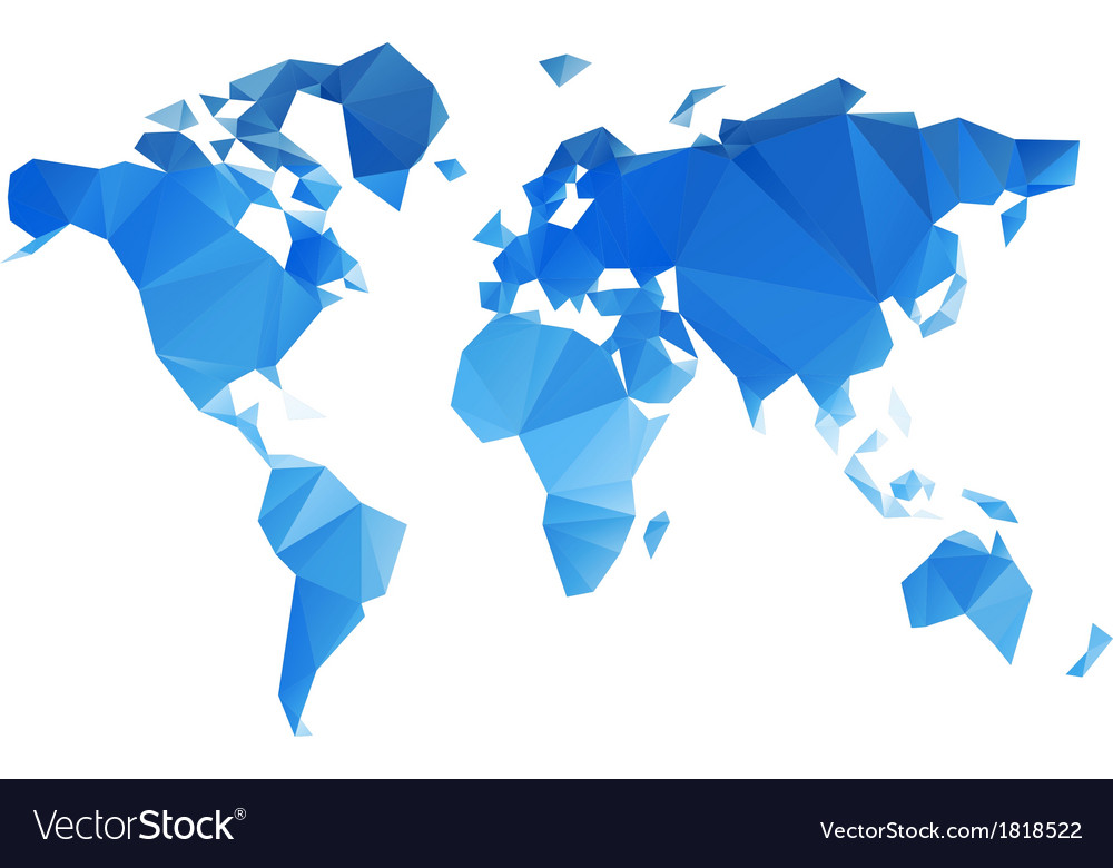 Triangular world map file vector | Price: 1 Credit (USD $1)