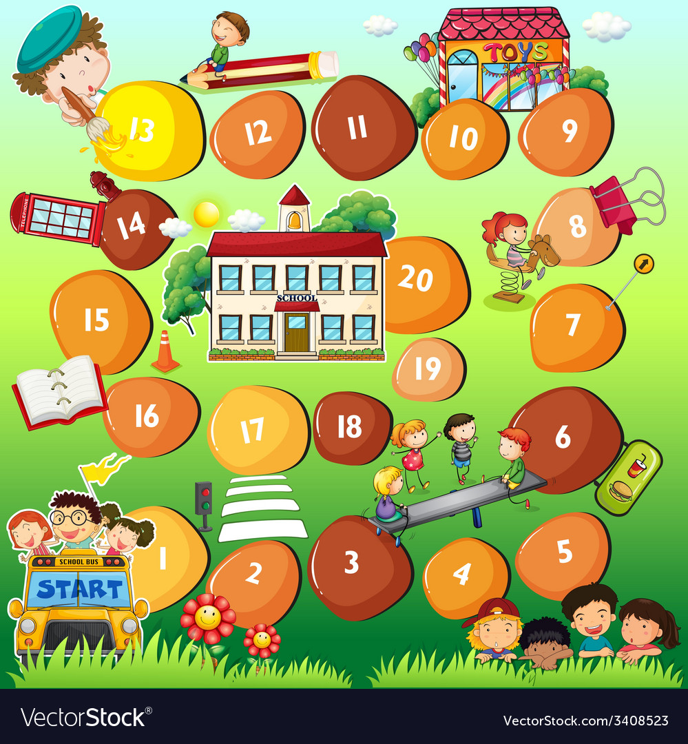 Board game theme for children vector | Price: 1 Credit (USD $1)