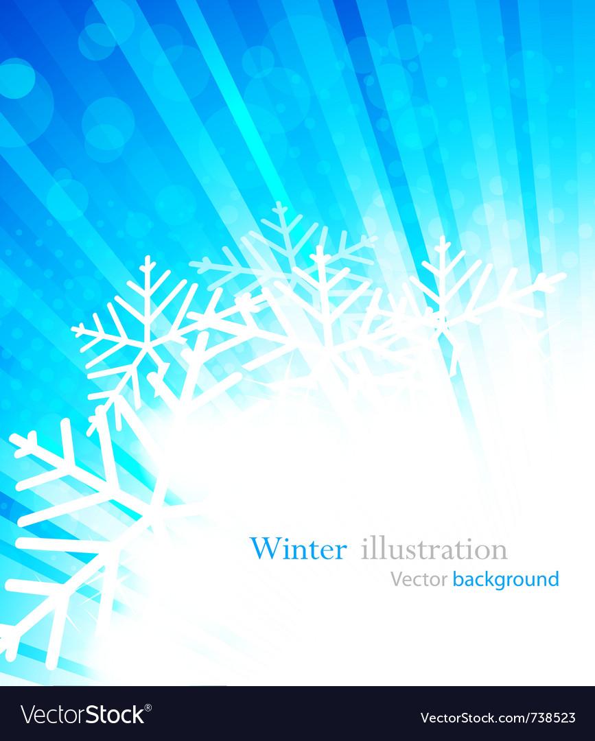 Bright winter background vector | Price: 1 Credit (USD $1)