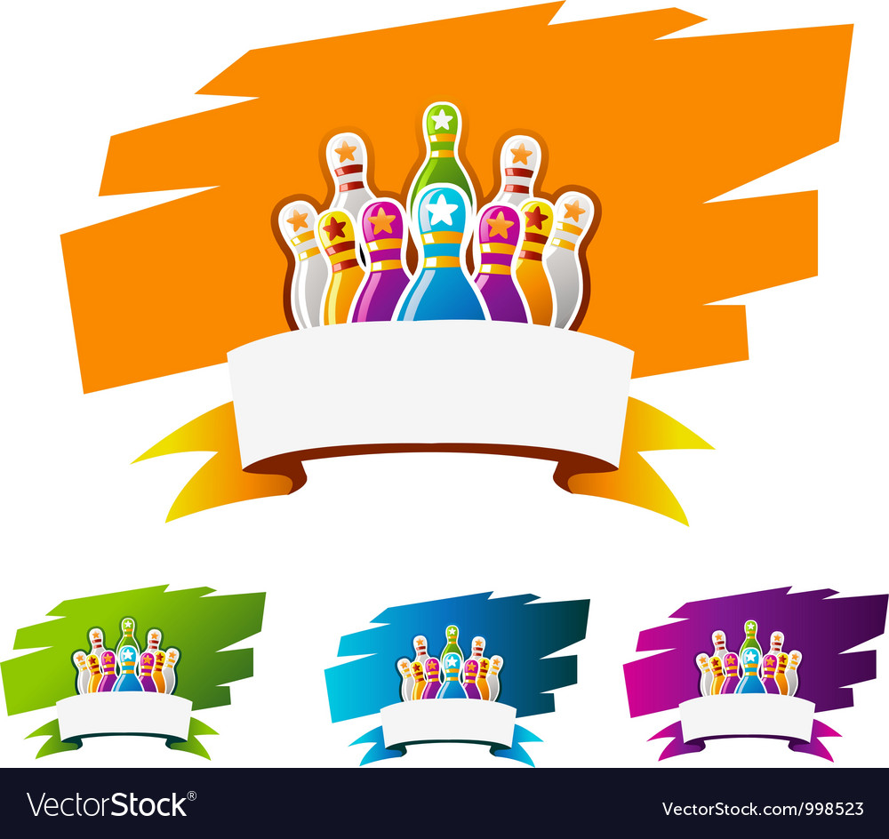 Design element for bowling sport vector   Price: 1 Credit (USD $1)