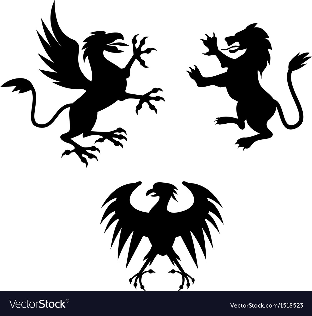 Griffin lion silhouette vector | Price: 1 Credit (USD $1)