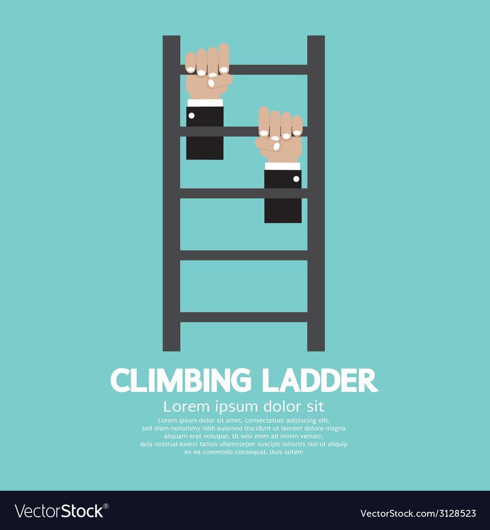 Hands climbing ladder vector | Price: 1 Credit (USD $1)