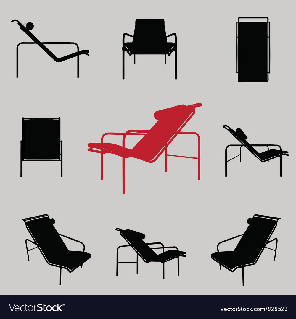 Modern armchair vector | Price: 1 Credit (USD $1)