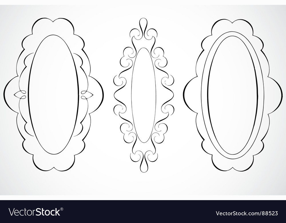 Oval frames vector | Price: 1 Credit (USD $1)