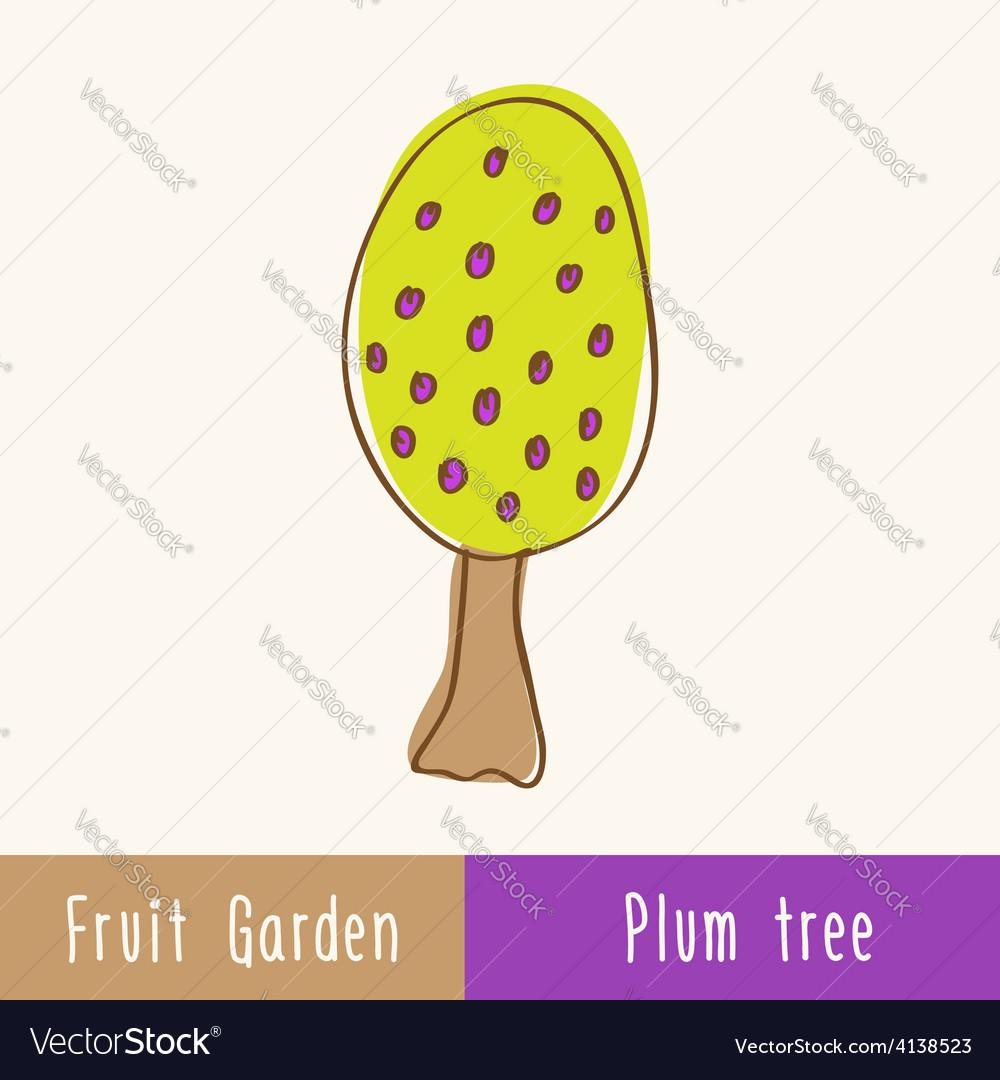 Single garden fruit tree vector   Price: 1 Credit (USD $1)