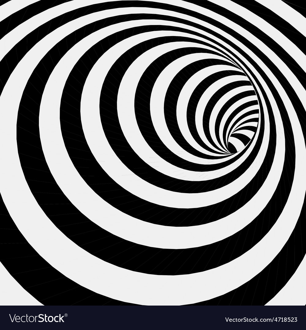 Spiral striped abstract tunnel background vector | Price: 1 Credit (USD $1)