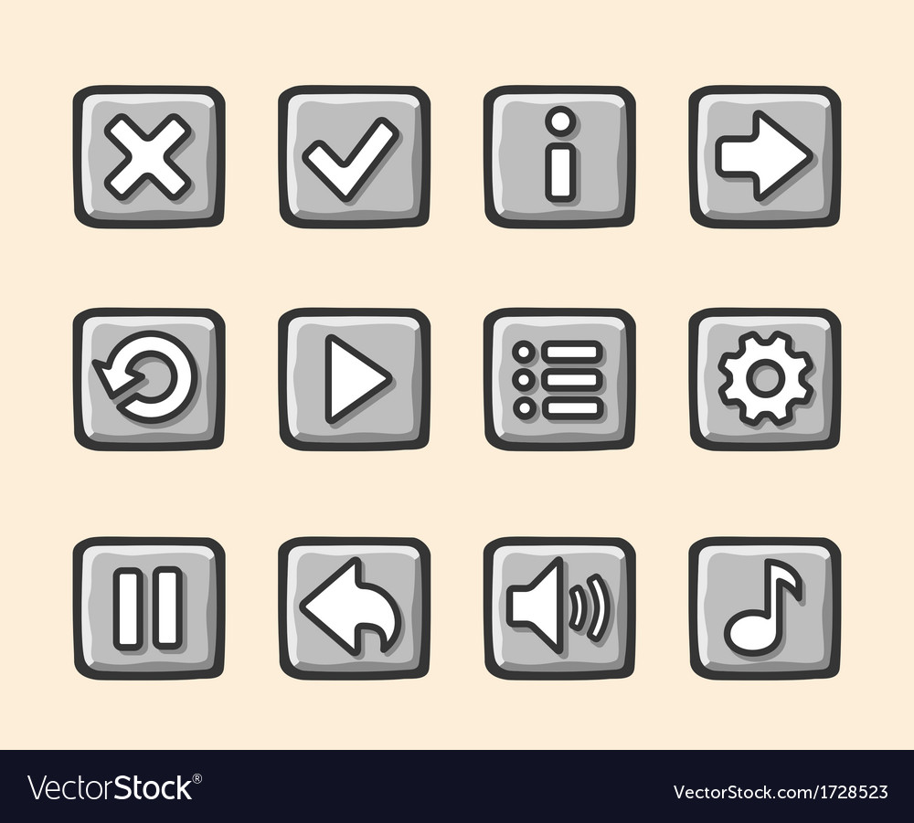 Stone buttons for game vector | Price: 1 Credit (USD $1)