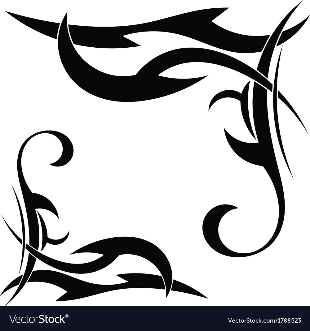 Tribal element on a white background vector | Price: 1 Credit (USD $1)