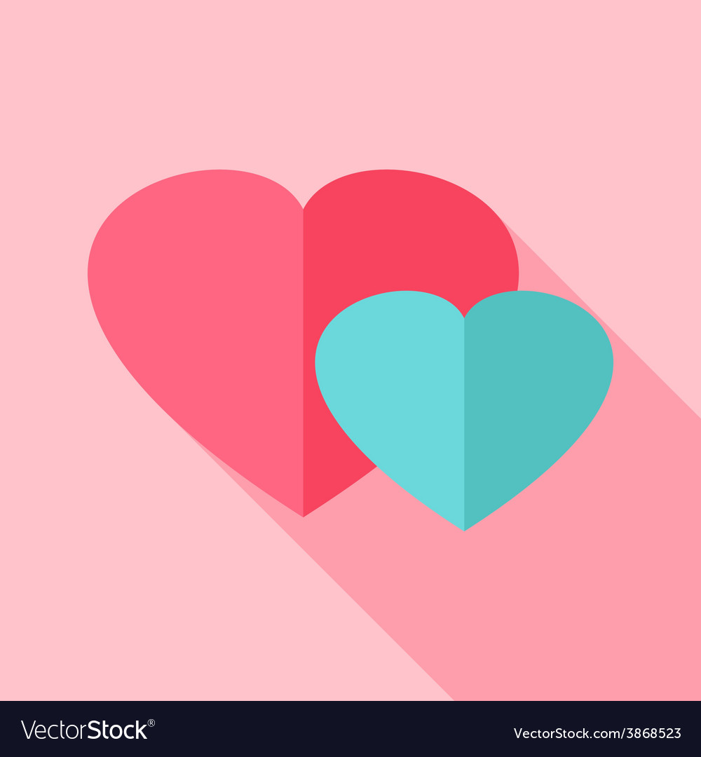 Two hearts love sign vector | Price: 1 Credit (USD $1)