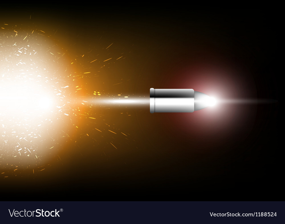 Bullet shot vector | Price: 1 Credit (USD $1)