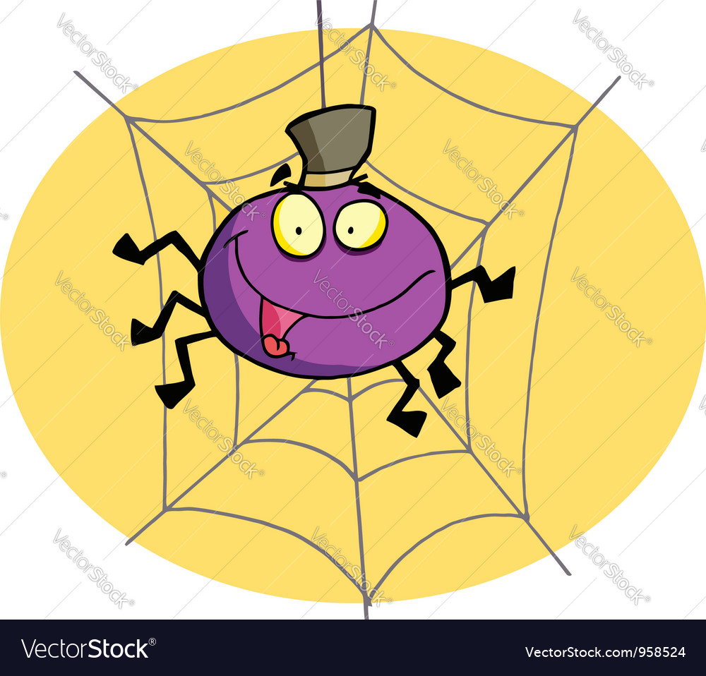 Cartoon spider vector | Price: 1 Credit (USD $1)