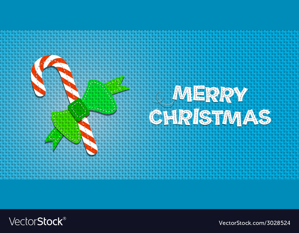 Christmas candy cane vector | Price: 1 Credit (USD $1)