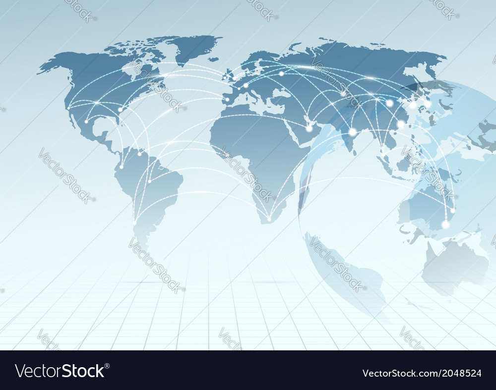 Global communicational channels background vector | Price: 1 Credit (USD $1)