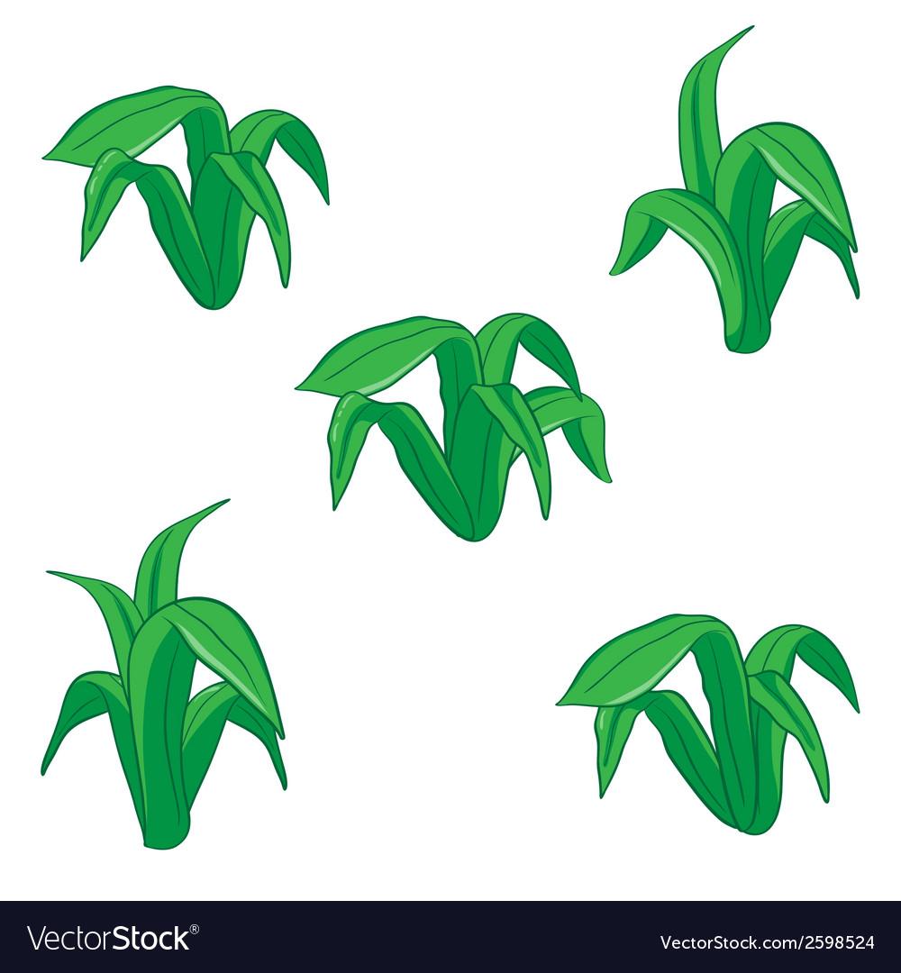 Green floral cartoon vector | Price: 1 Credit (USD $1)