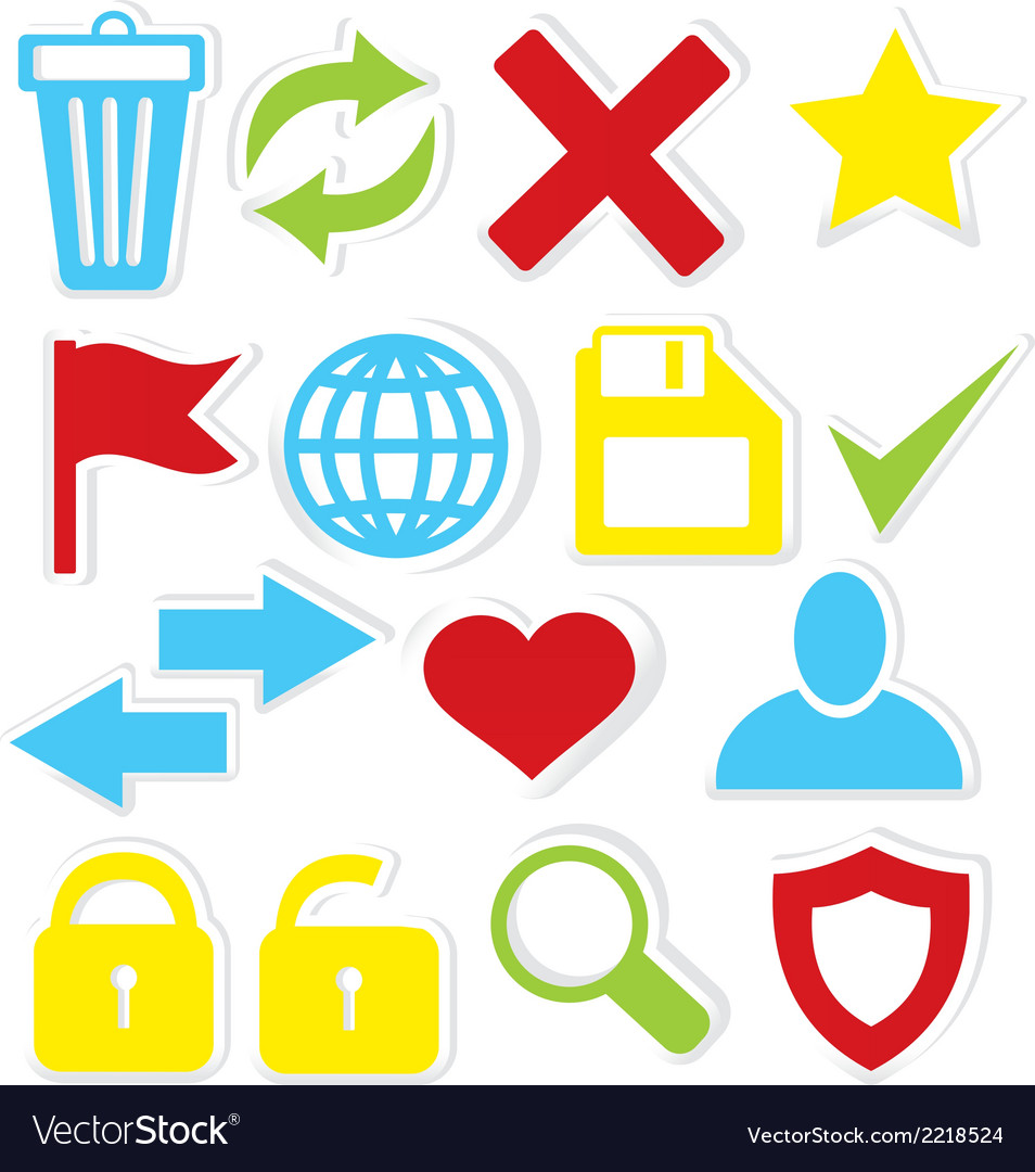 Internet icons trash bin vector | Price: 1 Credit (USD $1)