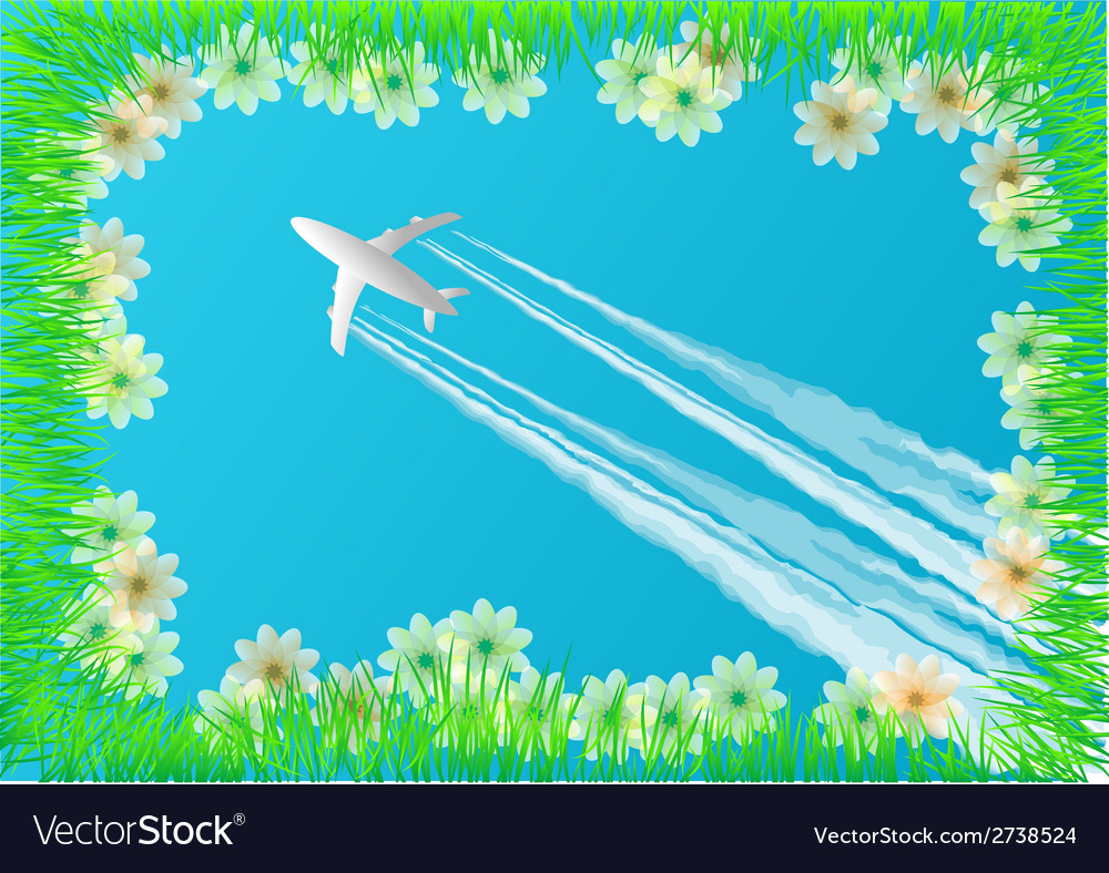 Plane in the sky vector | Price: 1 Credit (USD $1)