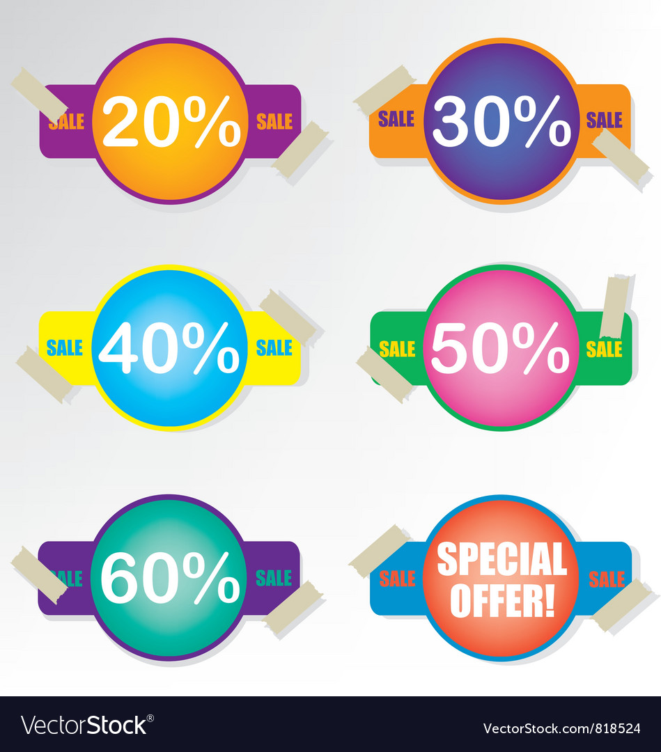 Sale coupon badge vector | Price: 1 Credit (USD $1)