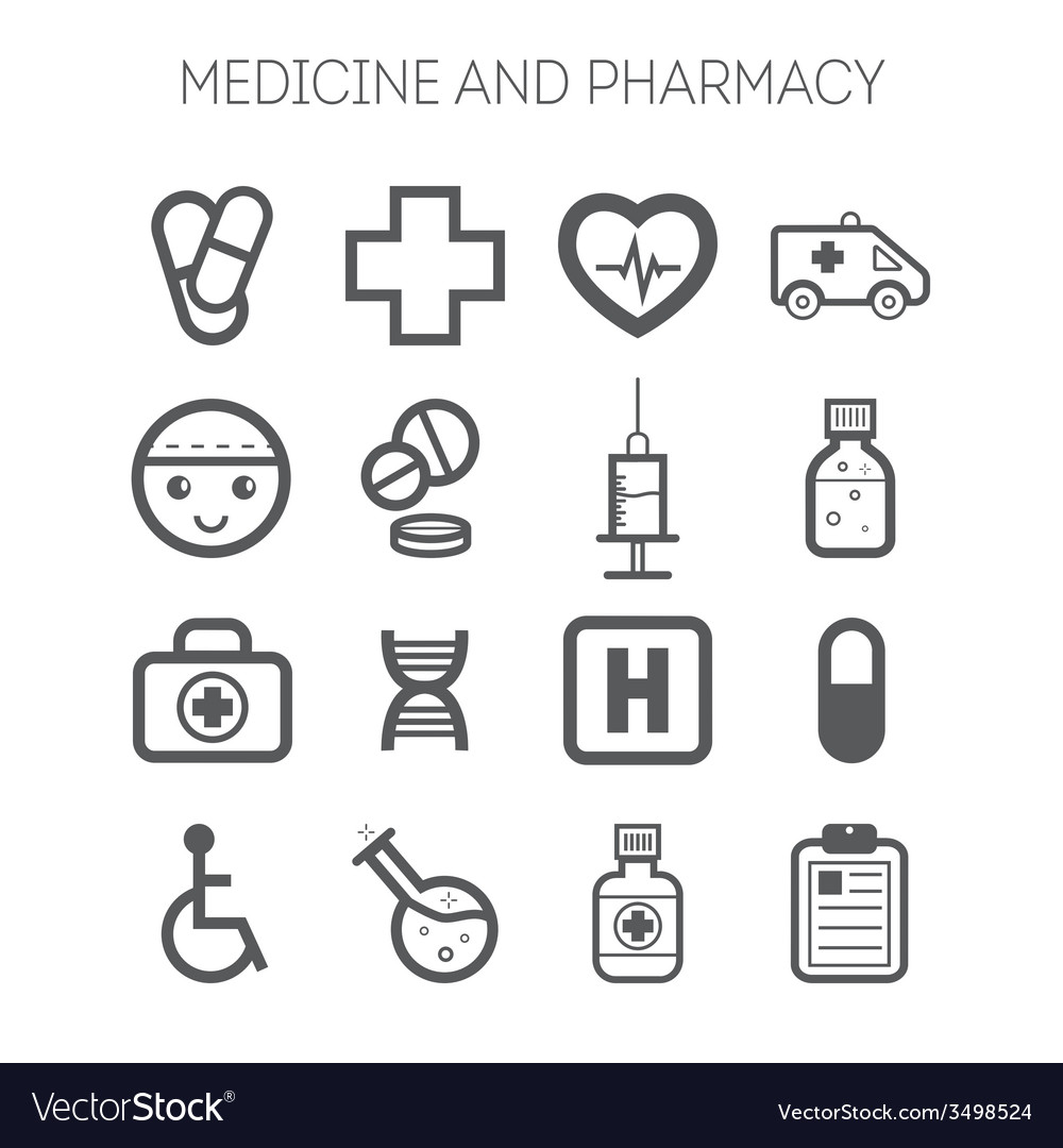 Set of simple medical icons vector | Price: 1 Credit (USD $1)