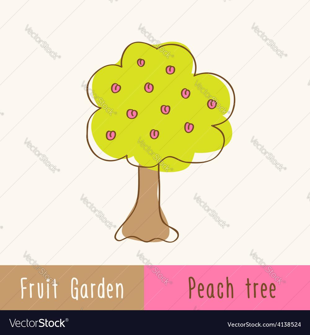 Single garden fruit tree vector | Price: 1 Credit (USD $1)