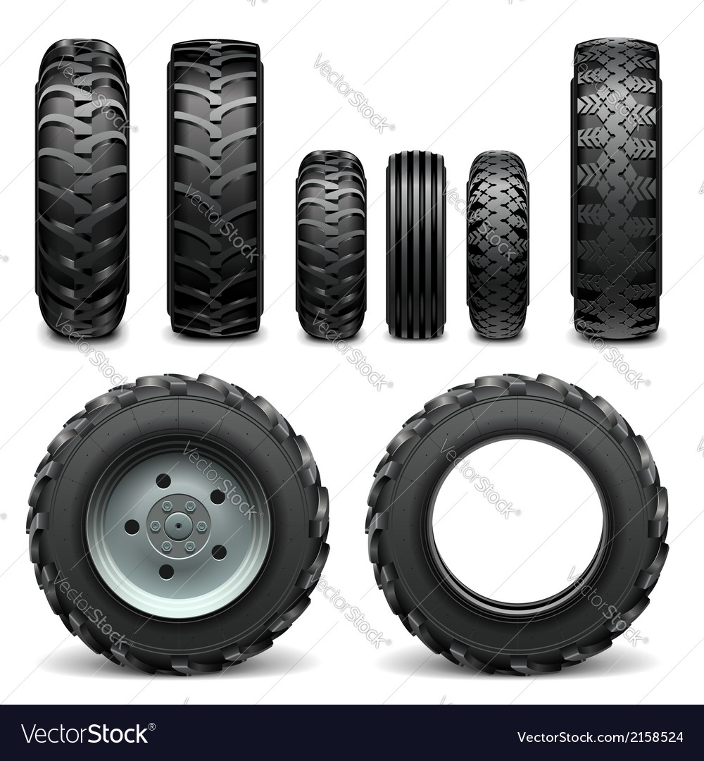 Tractor tires vector | Price: 1 Credit (USD $1)