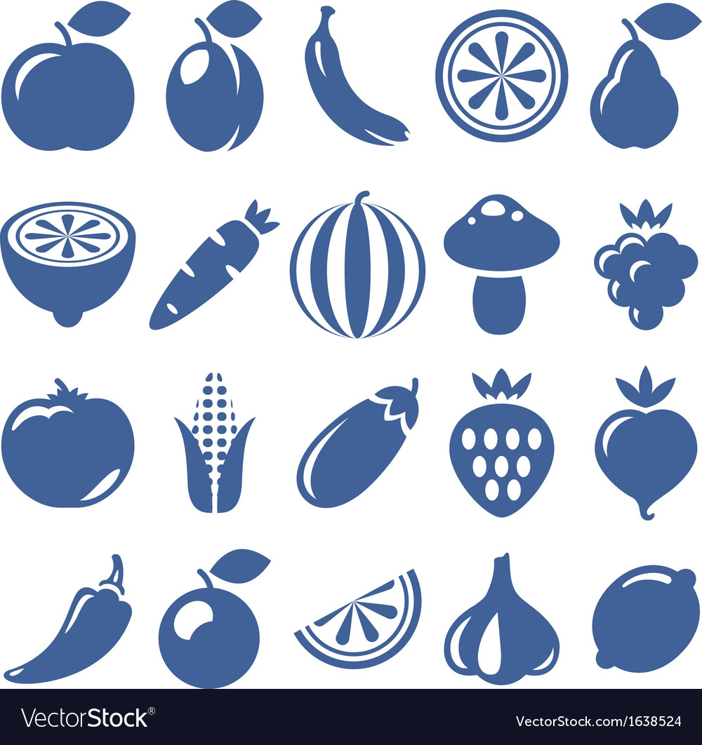 Vegetables icons vector | Price: 1 Credit (USD $1)