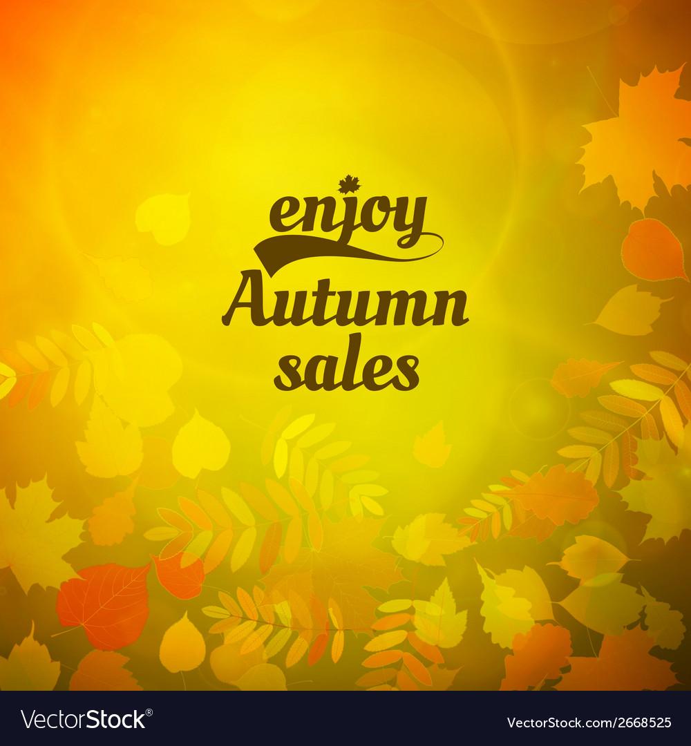 Autumn sale design template vector | Price: 1 Credit (USD $1)