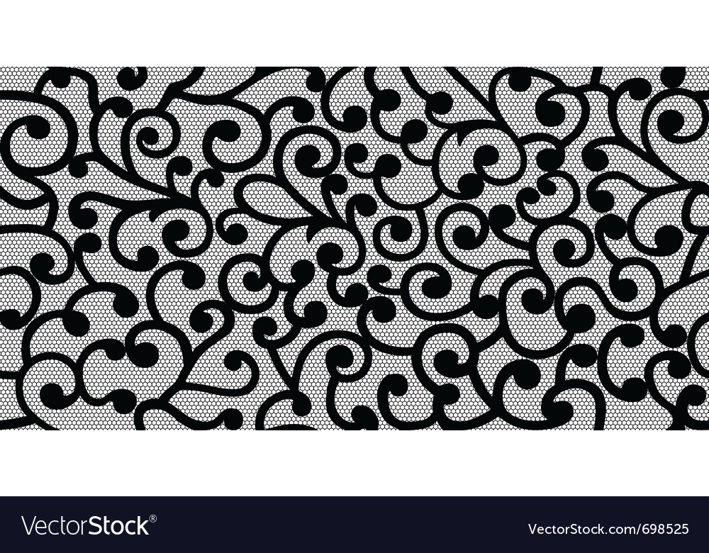 Black seamless isolated background and curles vector | Price: 1 Credit (USD $1)
