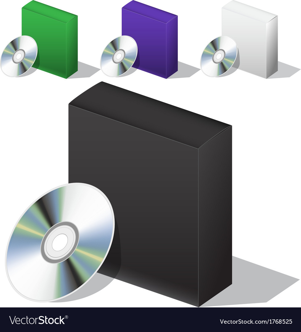 Box for dvd with a disk vector | Price: 1 Credit (USD $1)