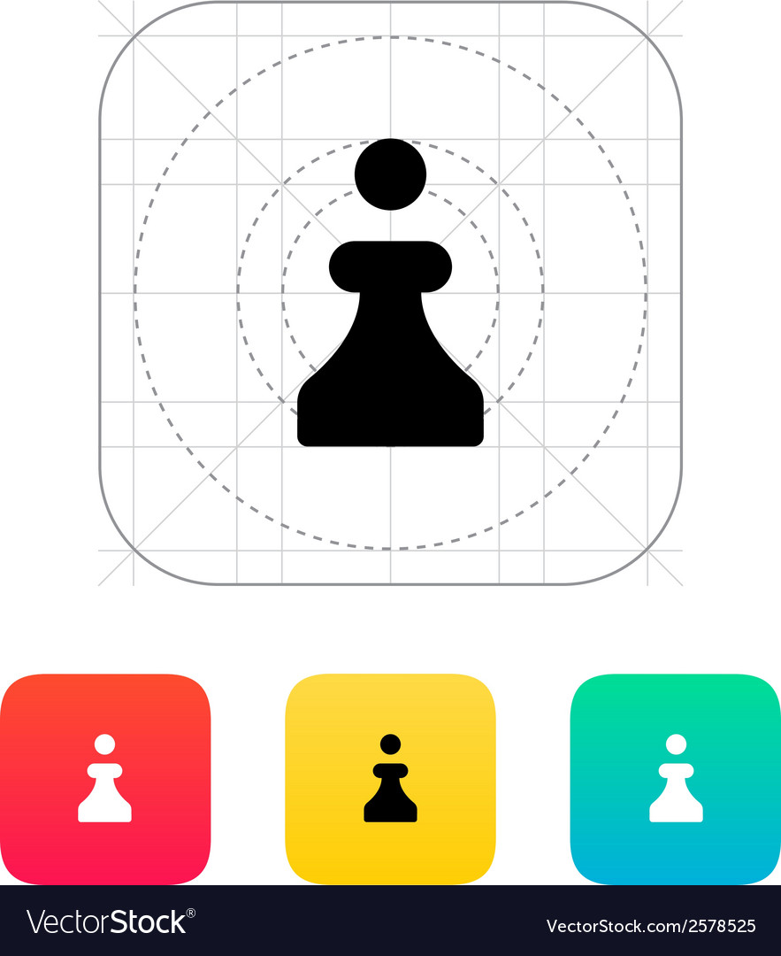 Chess pawn icon vector | Price: 1 Credit (USD $1)